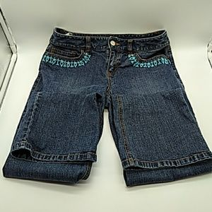 Ann Taylor Loft beaded jeans 2P pre owned boot cut